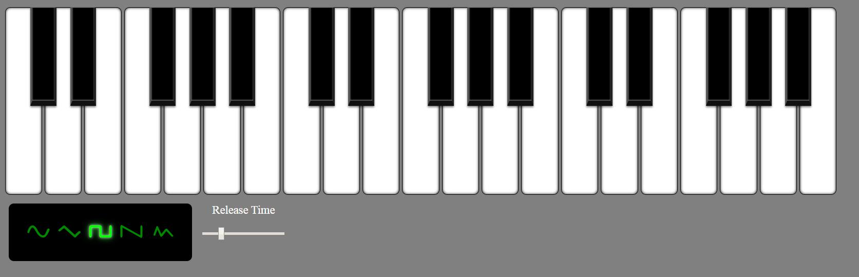 برنامه پیانو ساده در jQuery - jsRapPiano برای سایت
